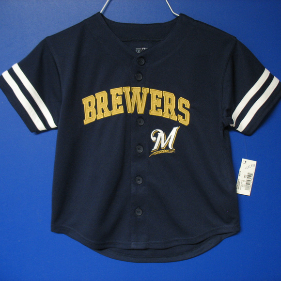 c1cd8d7b9 MLB Shirts & Tops | Milwaukee Brewers Youth Button Down Jersey ...